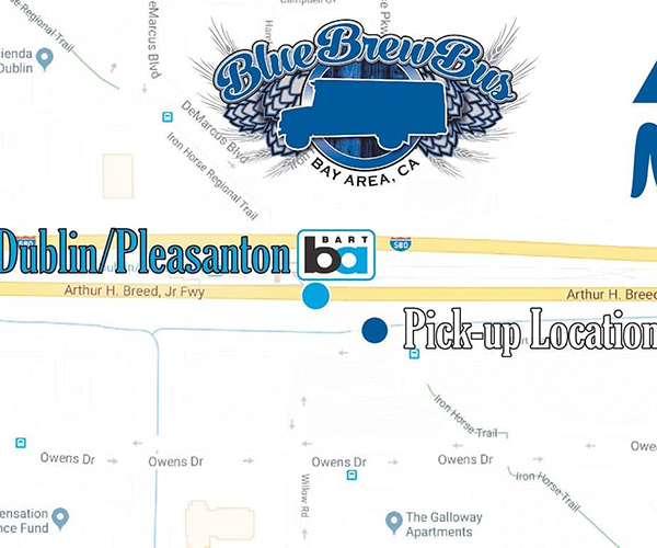 Blue Brew Bus from BART
